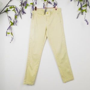 Anthropologie Light Yellow Relaxed Chinos